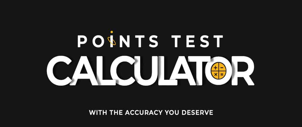 Points Test Calculator Pic